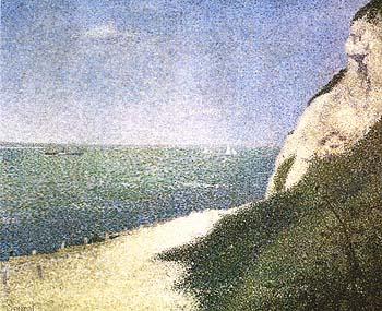 Les Bas-Butin, Honfleur 1886 - Georges Seurat reproduction oil painting