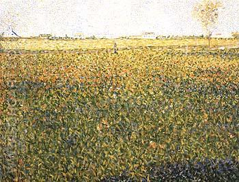 Alfalfa, La Lucerne, Saint-Denis 1884 - Georges Seurat reproduction oil painting