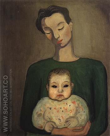 Mother and Child 1930 - bill bloggs reproduction oil painting