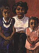 Black Spanish-American Family 1950 - bill bloggs reproduction oil painting