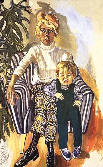 Mrs. Paul Gardner and Sam 1967 - bill bloggs reproduction oil painting