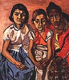 Three Puerto Rican Girls 1955 - bill bloggs reproduction oil painting