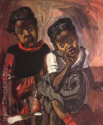 Two Girls, Spanish Harlem 1959 - bill bloggs reproduction oil painting