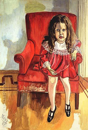 Clement Greenberg's Daughter 1967 - bill bloggs reproduction oil painting