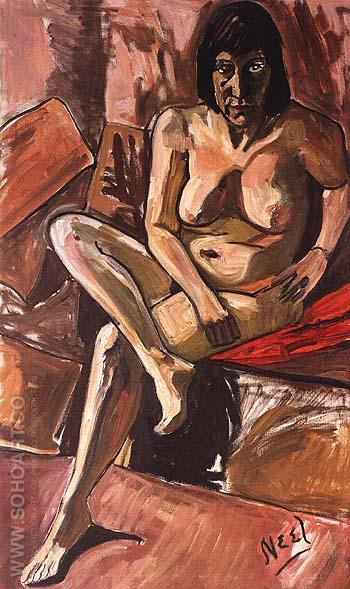 Lida, Nude 1960 - bill bloggs reproduction oil painting