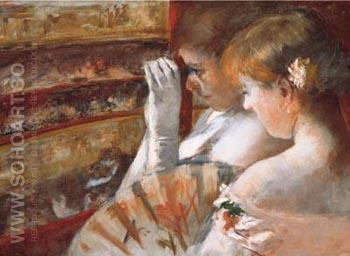 In the Box 1879 - Mary Cassatt reproduction oil painting