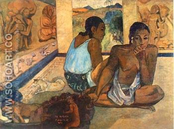 Te Rerioa 1897 (The Dream) - Paul Gauguin reproduction oil painting