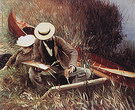 Paul Helleu Painting with His Wife 1889 - John Singer Sargent reproduction oil painting