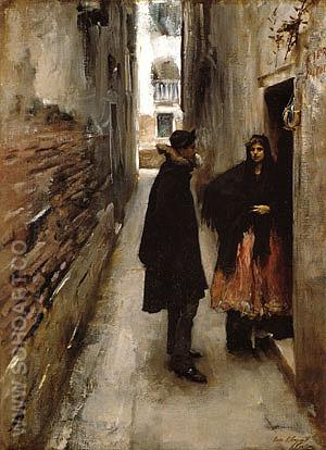 A Street in Venice 1880-82 - John Singer Sargent reproduction oil painting