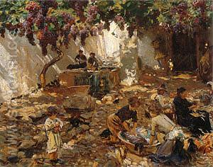Women at Work 1910 - John Singer Sargent reproduction oil painting
