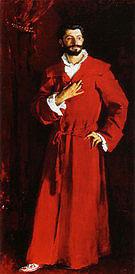 Dr Samuel Jean Pozzi at Home 1881 - John Singer Sargent reproduction oil painting