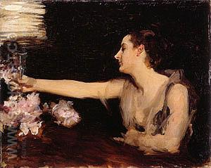 Madame Gautreau Drinking A Toast 1883 - John Singer Sargent reproduction oil painting