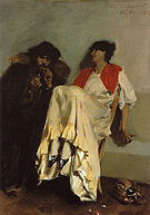The Sulphur Match 1882 - John Singer Sargent reproduction oil painting