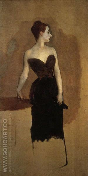 Madame Pierre Gautreau 1884 (Madam X) - John Singer Sargent reproduction oil painting