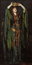 Ellen Terry as Lady Macbeth 1889 - John Singer Sargent reproduction oil painting