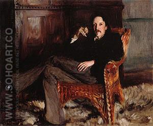 Robert Louis Stevenson 1887 - John Singer Sargent reproduction oil painting