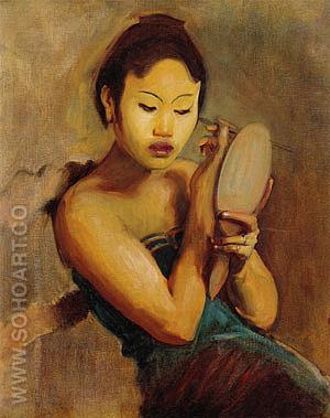 A Javanese Girl at Her Toilet 1889 - John Singer Sargent reproduction oil painting