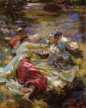 The Chess Game 1907 - John Singer Sargent reproduction oil painting