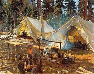 Tents at Lake O'Hara 1916 - John Singer Sargent reproduction oil painting
