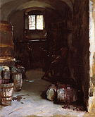 Pressing the Grapes Florentine Wine Cellar 1882 - John Singer Sargent reproduction oil painting