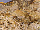 Bringing Down Marble From the Quarries to Carrara 1911 - John Singer Sargent reproduction oil painting