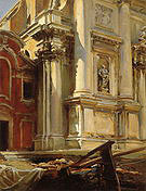 Corner of the Church of San Stae Venice 1913 - John Singer Sargent reproduction oil painting