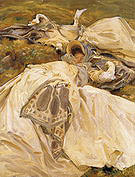 Two Girls in White Dresses 1910 - John Singer Sargent reproduction oil painting