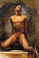 Nude Study of Thomas E Mckeller 1917-20 - John Singer Sargent reproduction oil painting