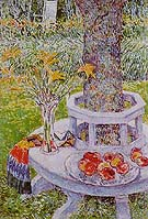 Mrs Hassams Garden at East Hamptom 1934 - Childe Hassam reproduction oil painting