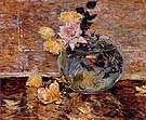 Roses in a Vase 1890 - Childe Hassam reproduction oil painting