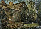 Little Old Cottage Egypt Lane East Hampton 1917 - Childe Hassam reproduction oil painting
