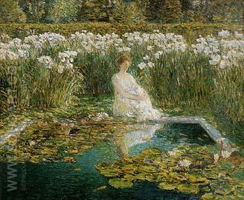 Lilies 1910 - Childe Hassam reproduction oil painting