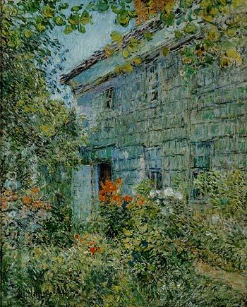 Old House and Garden East Hampton 1898 - Childe Hassam reproduction oil painting