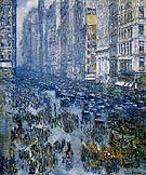Fifth Avenue 1919 - Childe Hassam reproduction oil painting