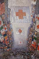 Red Cross Drive May 1918 Celebration Day - Childe Hassam reproduction oil painting