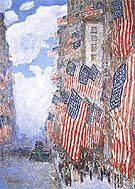 The Fourth of July 1916 The Greatest Display of the American Flag Ever Seen in New York Climax of the Preparedness Parade in May 1916 - Childe Hassam reproduction oil painting