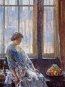 The New York Window - Childe Hassam reproduction oil painting