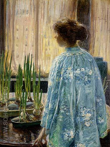 The Table Garden 1910 - Childe Hassam reproduction oil painting