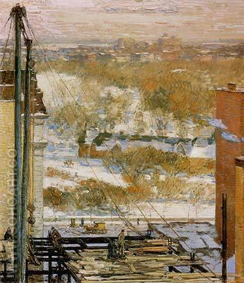 The Hovel and the Skyscraper 1904 - Childe Hassam reproduction oil painting
