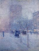 Late Afternoon New York Winter 1900 - Childe Hassam reproduction oil painting