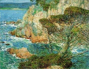 Point Lobos Carmel 1914 - Childe Hassam reproduction oil painting