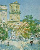 Street of the Great Captain Cordoba 1910 - Childe Hassam reproduction oil painting