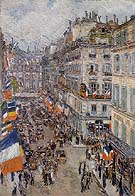 July Fourteenth Rue Daunou 1910 - Childe Hassam reproduction oil painting