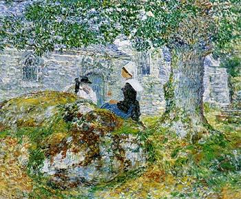 In Brittany 1897 - Childe Hassam reproduction oil painting