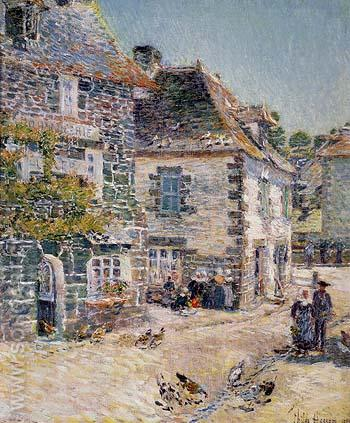 Pont Aven Noon Day 1897 - Childe Hassam reproduction oil painting