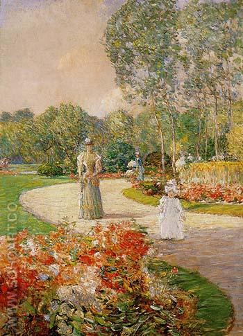 Parc Monceau 1897 - Childe Hassam reproduction oil painting