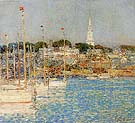Cat Boats Newport 1901 - Childe Hassam reproduction oil painting
