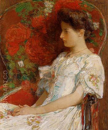 The Victorian Chair 1906 - Childe Hassam reproduction oil painting