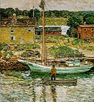 Oyster Sloop Cos Cob 1902 - Childe Hassam reproduction oil painting