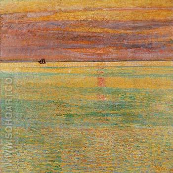 Sunset at Sea 1911 - Childe Hassam reproduction oil painting
